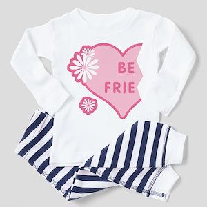 Pink Best Friends Heart Left Toddler T-Shir