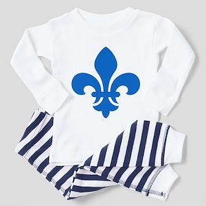 Blue Fleur-de-Lys Toddler Pajamas