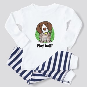 Play Ball German Shorthair Toddler Pajamas