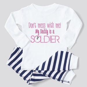Don't mess with me - pink Toddler Pajamas