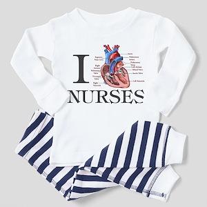 I Heart Nurses Toddler Pajamas