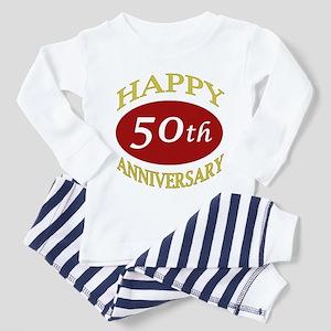 Happy 50th Anniversary Toddler Pajamas