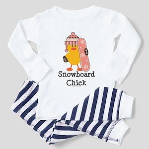 Snowboard Chick Toddler Pajamas