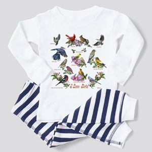 I love Birds Toddler Pajamas