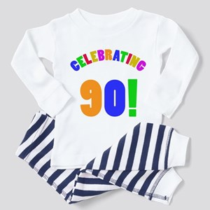 Rainbow 90th Birthday Party Pajamas