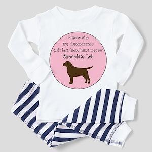 Girls Best Friend - Chocolate Toddler Pajamas