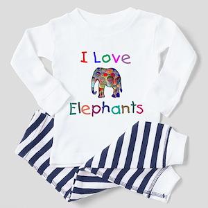 I Love Elephants Toddler Pajamas