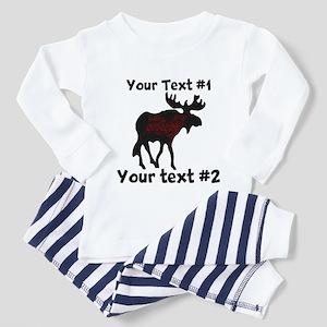 customize Moose Toddler Pajamas