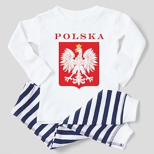 Polska Eagle Red Shield Toddler Pajamas