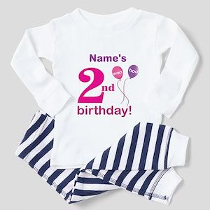 Custom 2nd Birthday Girl Toddler Pajamas