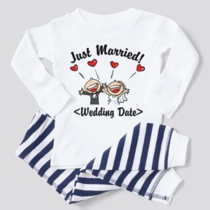 Just Married (Add Your Wedding Date) Pajamas
