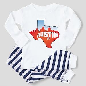 Austin Texas Skyline Toddler Pajamas