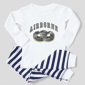 US Army Airborne Wings Silver Toddler Pajamas