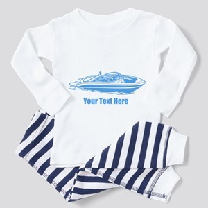 Motorboat. Add Your Text. Toddler Pajamas