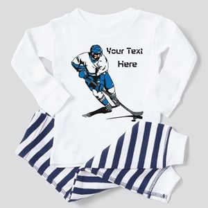 Icy Hockey. With Your Text. Toddler Pajamas