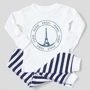 Vintage Paris Toddler Pajamas