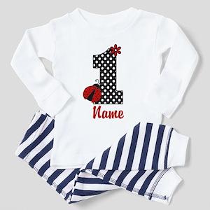 1st Birthday Ladybug Toddler Pajamas