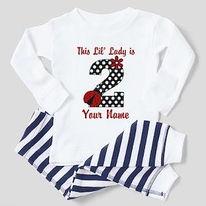 2nd Birthday Ladybug Toddler Pajamas