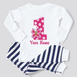 First Birthday Butterfly Toddler Pajamas
