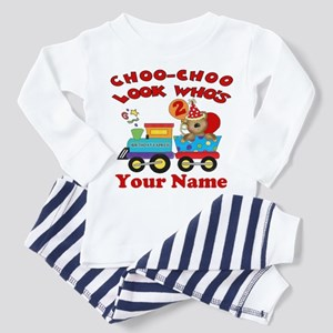2nd Birthday Train Toddler Pajamas