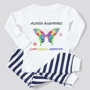 Autism Awareness Butterfly Toddler Pajamas