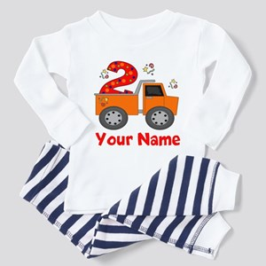 2nd Birthday Dump Truck Toddler Pajamas