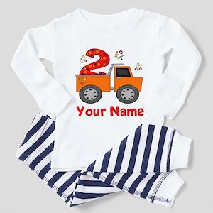 2nd Birthday Dump Truck Toddler Pajamas