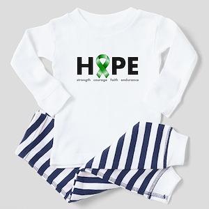Green Ribbon Hope Toddler Pajamas