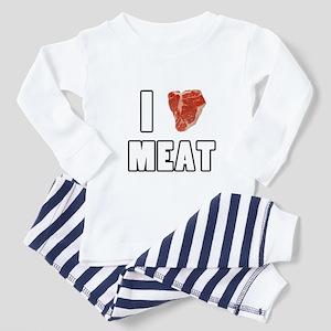 I Heart Meat Toddler Pajamas