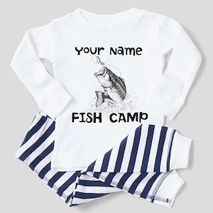 Personlize Fish Camp Toddler Pajamas