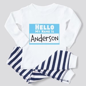 Personalized Name Tag Toddler Pajamas