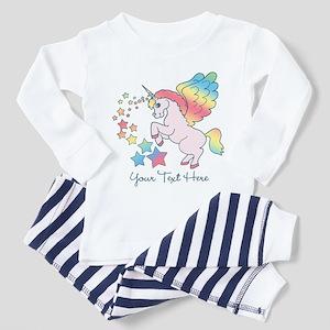 Unicorn Rainbow Star Toddler Pajamas