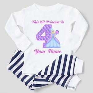 4th Birthday Princess Girl Toddler Pajamas