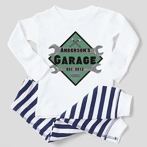 Personalized Garage Toddler Pajamas