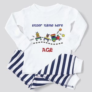 Personalized Birthday Train Toddler Pajamas