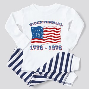 Retro 1776-1976 Flag Toddler Pajamas