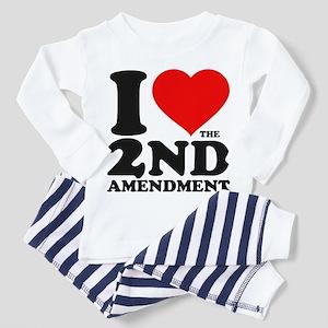 I Heart the 2nd Amendment Infant/Toddler Pajamas