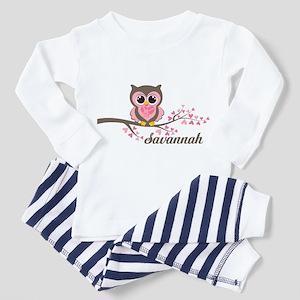 Custom Valentines Day owl Toddler Pajamas