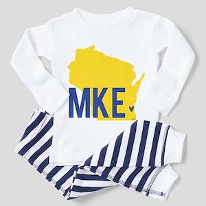 MKE Blue & Yellow Pajamas