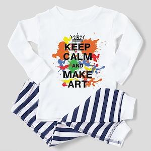 Keep Calm and Make Art Pajamas
