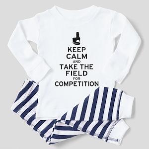 Keep Calm & Take the Field Toddler Pajamas