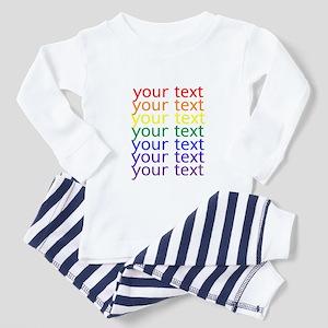 roygbiv text Pajamas