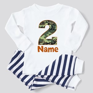 2nd Birthday Camo Pajamas