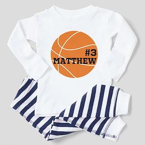 Custom Basketball Toddler Pajamas