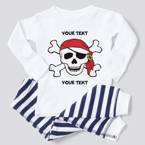 PERSONALIZE Funny Pirate Toddler Pajamas
