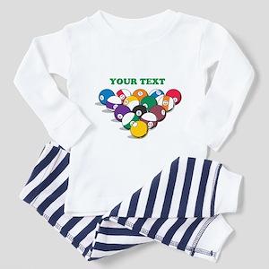 Personalized Billiard Balls Toddler Pajamas