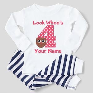 4th Birthday Girl Owl Pajamas