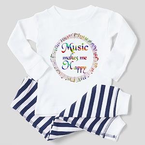 Music makes me Happy Toddler Pajamas