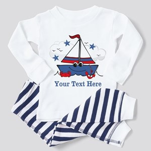 Cute Little Sailboat Personalized Toddler Pajamas