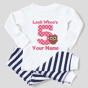5th Birthday Girl Owl Pajamas